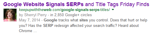 Screenshot of a Google SERP results page