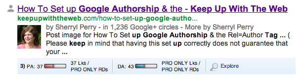 Google Authorship Tags Link your Posts with your Google+ Profile
